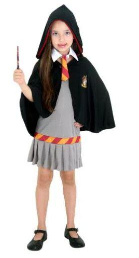 Fantasia Hermione Grifinória Infantil - Harry Potter