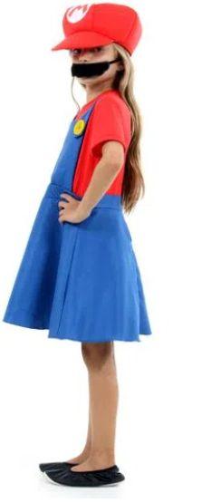 Fantasia Mario Bros Feminino Vestido Infantil - Super Mario World