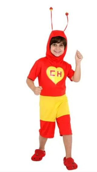 Fantasia Chapolin Infantil Curto