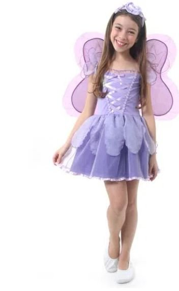 Fantasia Fadinha Lilas Infantil