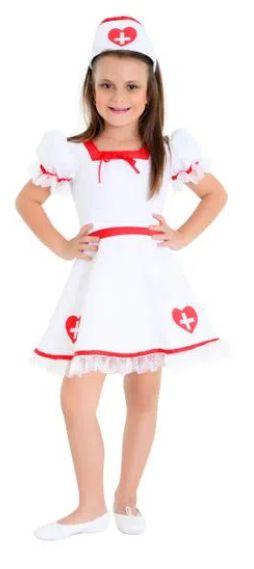 Fantasia Enfermeira Infantil Luxo