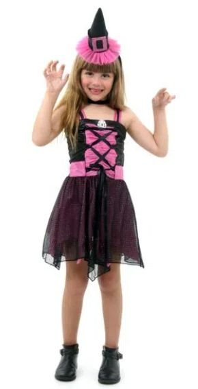 Fantasia Infantil Bruxa Aranha Fashion