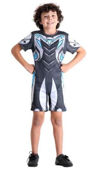 Fantasia Max Steel Infantil Curto