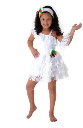 Fantasia Baianinha Infantil Luxo