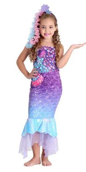 Fantasia Barbie Sereia Infantil - Barbie e o Portal Secreto