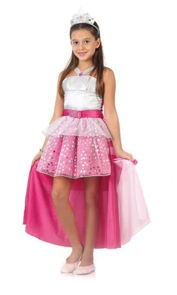 Fantasia Barbie Rock In Royals Infantil Luxo