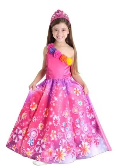 Fantasia Barbie Princesa Infantil Luxo - Barbie e o Portal Secreto