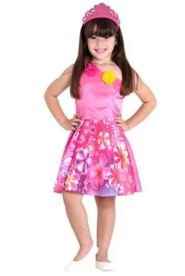 Fantasia Barbie Princesa Infantil Pop - Barbie e o Portal Secreto