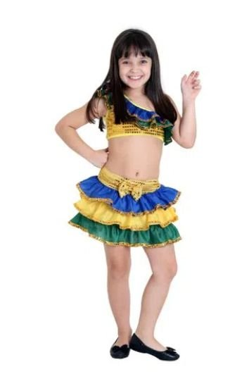 Fantasia Brasileirinha Infantil
