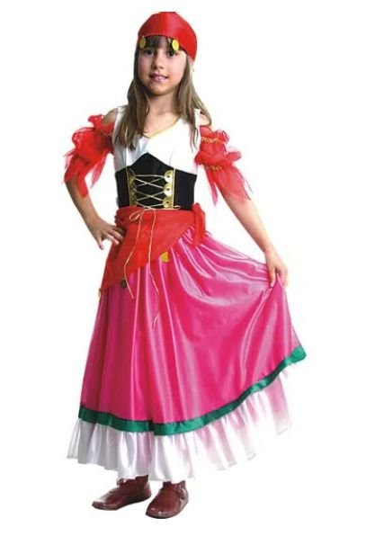 Fantasia Cigana Infantil Luxo