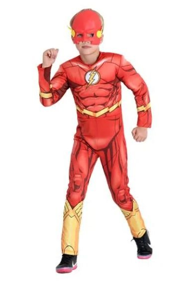 Fantasia The Flash Infantil Peitoral - DC