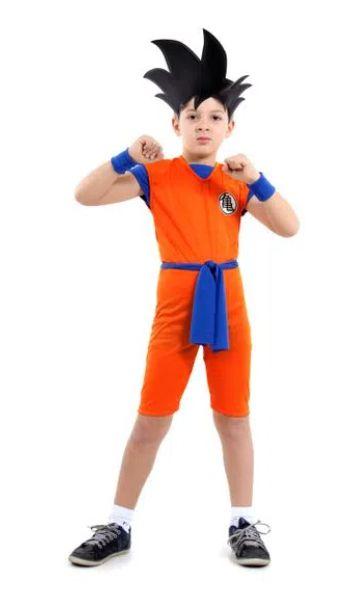Fantasia Goku Curto Infantil - Dragon Ball Z