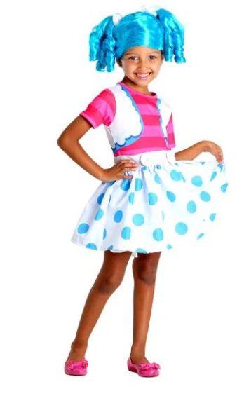 Fantasia Mittens Fluff 'n' Sluff (azul) Infantil - Lalaloopsy