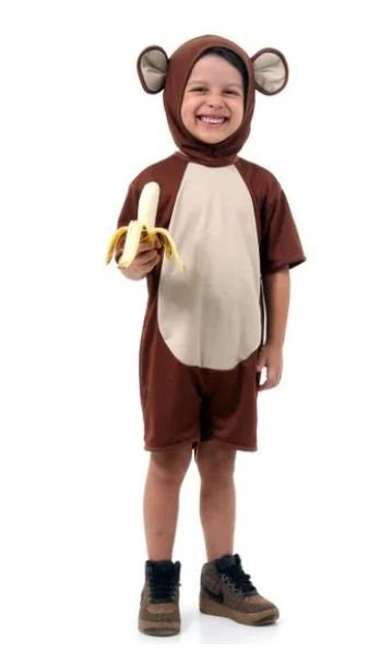 Fantasia Macaco Infantil Curto