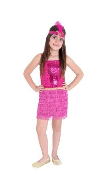 Fantasia Melindrosa Pink Infantil