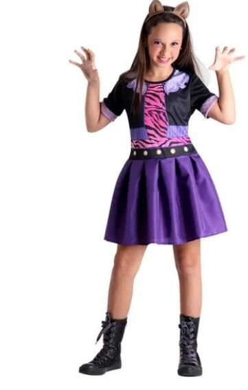 Fantasia Clawdeen Wolf Infantil Pop - Monster High