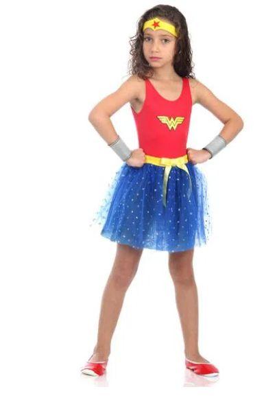 Fantasia Mulher Maravilha Infantil - Dress Up