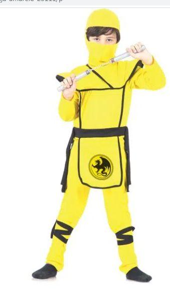 Fantasia Ninja Amarelo Infantil