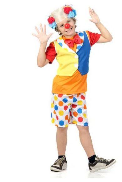 Fantasia Palhaço Colorido Divertido Infantil