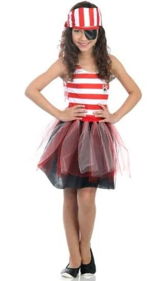 Fantasia Piratinha Infantil - Dress Up