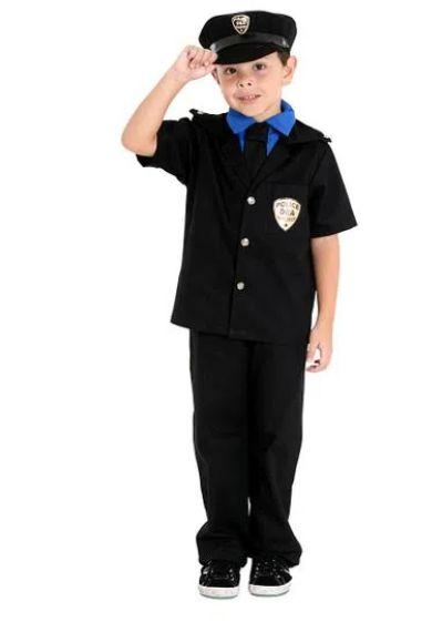 Fantasia Policial Infantil Masculino