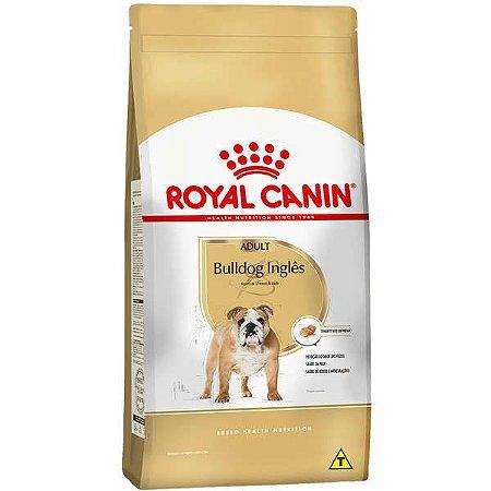 Ração Royal Canin  para Cães Adultos da Raça Bulldog inglês - 12Kg