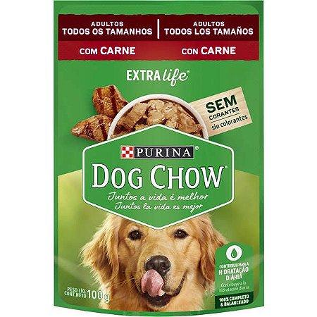 Ração Úmida Nestlé Purina Dog Chow Sachê de Carne - Para Cães Adultos 100g