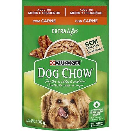 Ração Úmida Nestlé Purina Dog Chow Sachê de Carne - Para Cães Adultos de Raça Pequena 100g