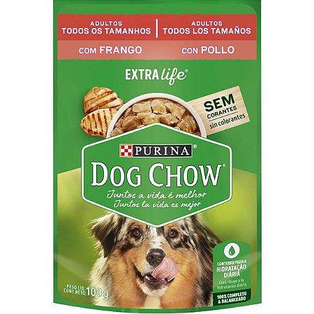 Ração Úmida Nestlé Purina Dog Chow Sachê de Frango - Para Cães Adultos 100g