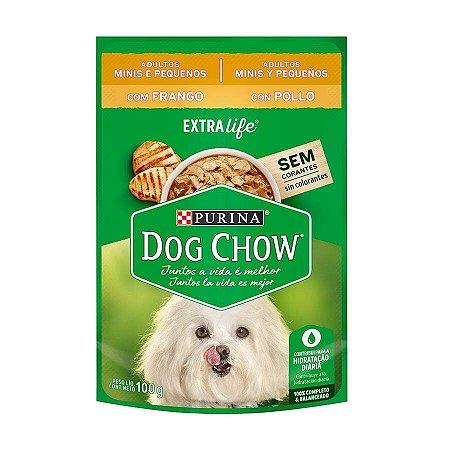Ração Úmida Nestlé Purina Dog Chow Sachê de Frango - Para Cães Adultos de Raça Pequena 100g