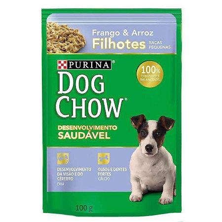 Ração Úmida Nestlé Purina Dog Chow - Sachê de Frango e  Arroz - Para Cães Filhotes 100g