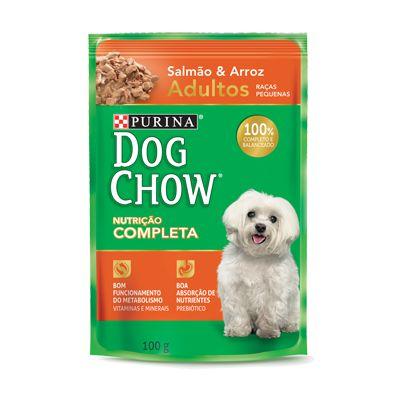 Ração Úmida Nestlé Purina Dog Chow - Salmão e Arroz - Para Cães de Raça Pequena 100g