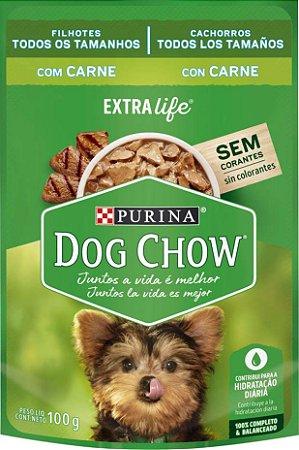 Ração Úmida Nestlé Purina Dog Chow - Sachê de Carne Para Cães Filhotes -100g