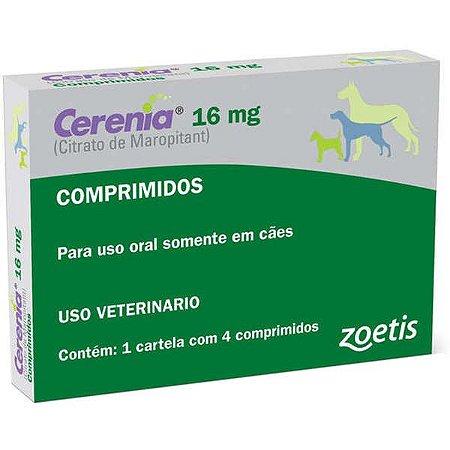Antiemético Zoetis Cerenia para cães - 4 Blister de 16mg