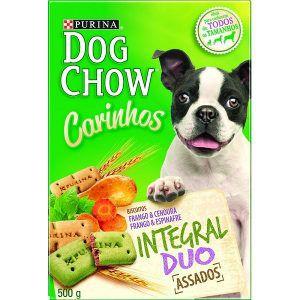 Biscoito Nestlé Purina - Dog Chow Carinhos - Integral Duo 500g
