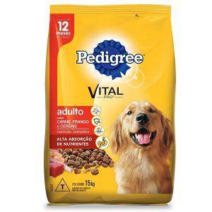 Ração Pedigree - Carne, Frango e Cereais - Para Cães Adultos 15Kg