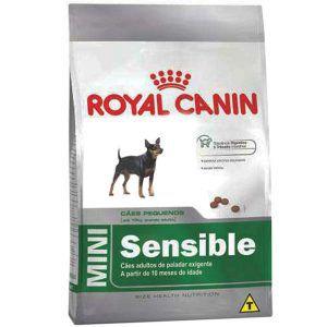 Ração Royal Canin - Mini Sensible - Para Cães Adultos de Raças Pequenas de Paladar Sensível - 1Kg