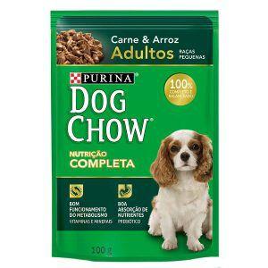 Ração Úmida Nestlé Purina Dog Chow - Sachê de Carne e Arroz - Para Cães Adultos de Raças Pequenas 100g