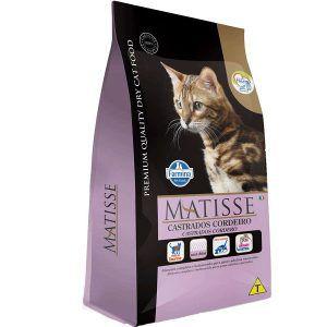 Ração Farmina Matisse - Cordeiro - Para Gatos Adultos Castrados 800g