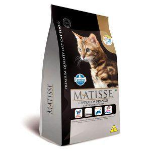 Ração Farmina Matisse - Frango e Arroz - Para Gatos Adultos Castrados 800 Gr