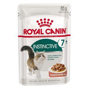 Ração Úmida Royal Canin - Sachê Feline Health Nutrition Instinctive +7 - Para Gatos Adultos 85g