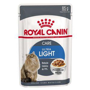 Ração Úmida Royal Canin - Sachê Feline Ultra Light - Para Gatos Adultos 85g