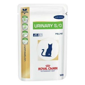 Ração Royal Canin - Sachê Feline Veterinary Diet Urinary S/o - Para Gatos com Cálculos Na Urina 100g
