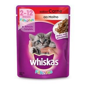 Ração Úmida Whiskas - Sachê Para Gatos Filhotes 85g