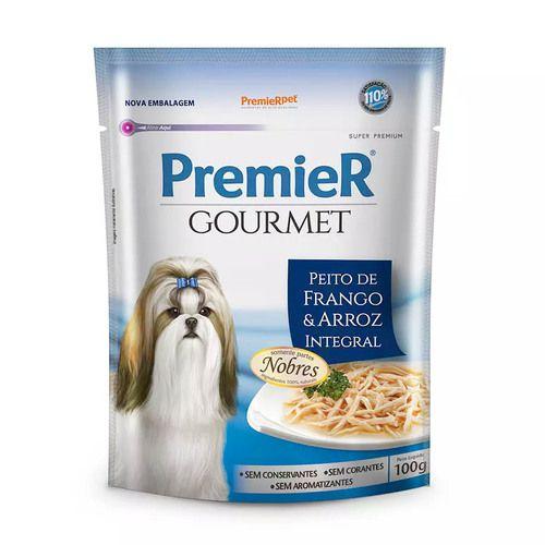 Ração Úmida Premier Pet Gourmet - Sachê Frango - Para Cães Adultos 100g