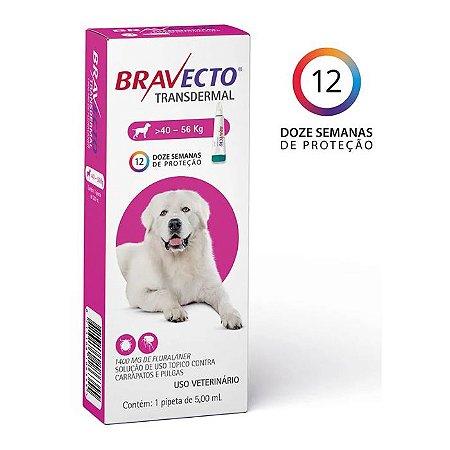Bravecto Antipulgas e Carrapatos Transdermal para Cães entre 40 a 56KG - 1400MG
