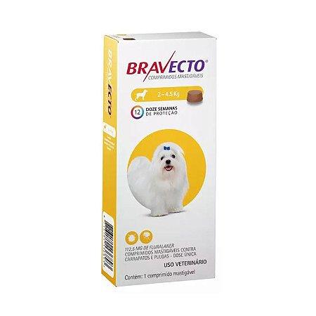 Bravecto Antipulgas e Carrapatos Para Cão Mini