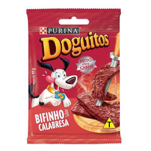 Petisco Nestlé Purina - Doguitos Bifinho Calabresa 65gr