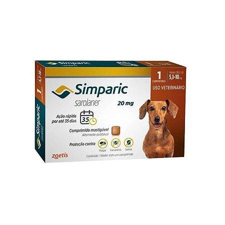 Simparic Antipulgas 20mg - Para Cães de 5,1 a 10Kg