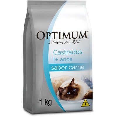 Ração Optimum - Carne - Para Gatos Adultos Castrados 1kg